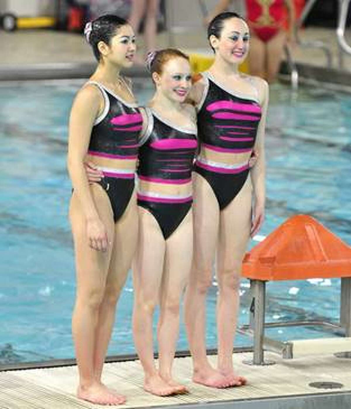US National 16-17 Age Group Trio Gold Medalists (left to right) Erin Wheeler, Emily Roney and Renee Collett Photo credit: Marnie Flynn