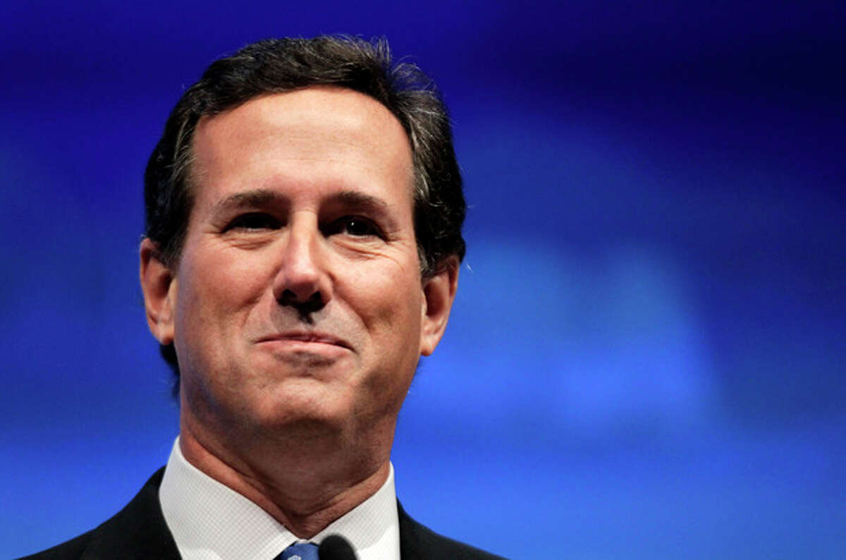 FILE - In this April 13, 2012 file photo, Rick Santorum speaks in St. Louis. Santorum was one of Mitt Romney's toughest foes during the GOP presidential race, but the former Pennsylvania senator plans to help Romney appeal to the party's conservative base when he addresses the Republican National Convention. (AP Photo/Michael Conroy, File)
