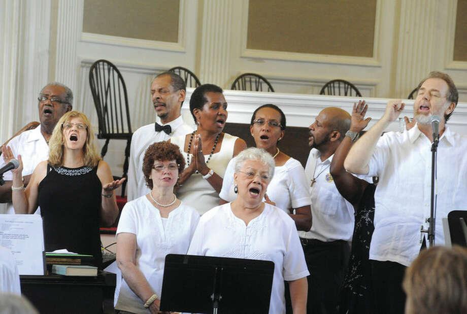 The gospel Sunday choir celebration at theFirst Congregational Church in Norwalk. hour photo/Matthew Vinci