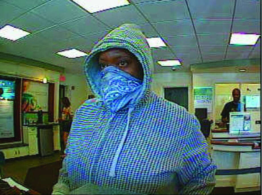This photo provided by the Stamford Police Department shows the suspect being sought in connection with the robbery of a Hope Street bank Monday morning.