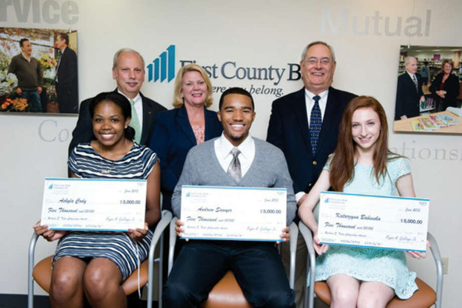 Three high school seniors were recently recognized as winners of the Richard E. Taber Citizenship Award administered by the First County Bank Foundation.