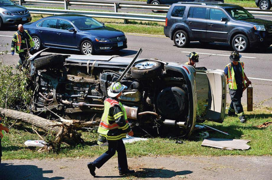One Car Accident Slows Merritt Traffic The Hour