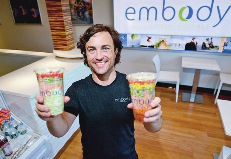 Hour photo / Erik TrautmannEmbody owner, Gillen Bryan, has opened one of his new nutritional food restaurants in Westport at Bridge Square. / (C)2012, The Hour Newspapers, all rights reserved
