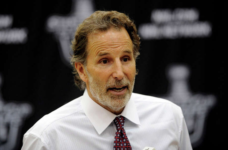 FILE - In this May 13, 2013 file photo, New York Rangers head coach John Tortorella talks to the media during a press conference following the Game 7 first-round NHL Stanley Cup playoff hockey series against the Washington Capitals in Washington. The Rangers have fired coach Tortorella, Wednesday, May 29, 2013, four days after New York was eliminated from the Stanley Cup playoffs. (AP Photo/Nick Wass, File) / FR67404 AP