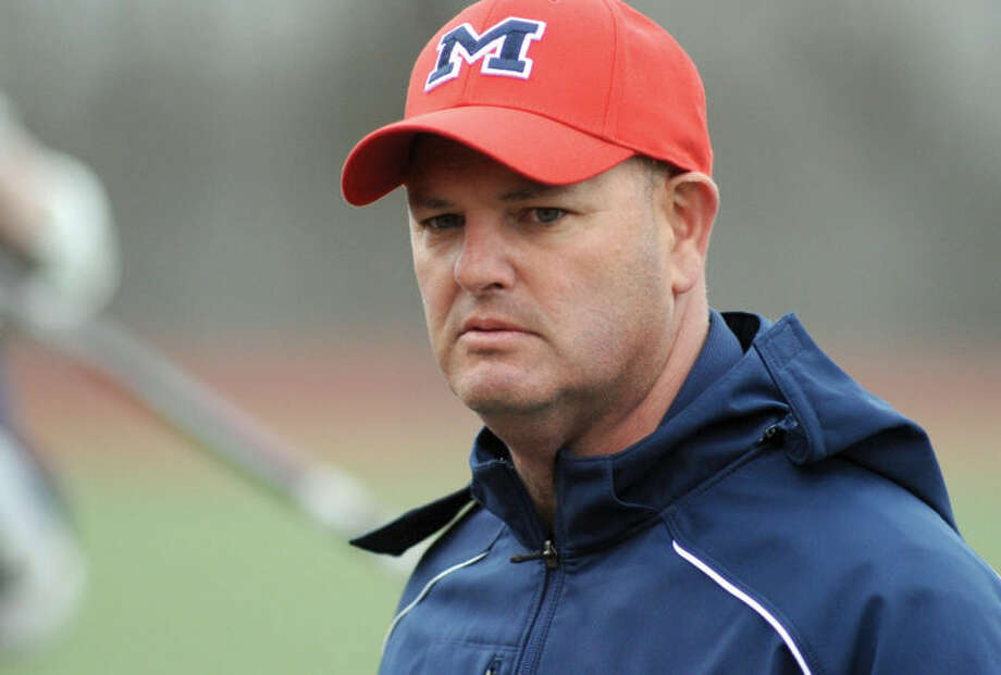 Hour photo/John Nash - Brien McMahon boys lacrosse coach Mike Epstein has announced his resignation after Wednesday's state tournament loss to Simsbury.