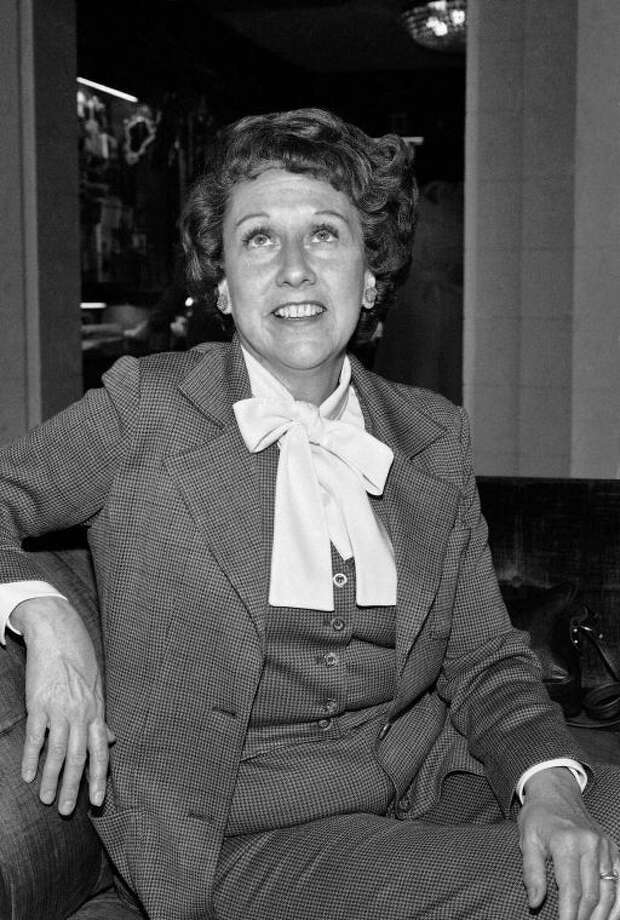 "FILE - Actress Jean Stapleton speaks during an interview in Washington on Wednesday, March 3, 1977, saying she will increase speaking out to the ""Edith Bunkers"" of the land to try and muster support for the Equal Rights Amendment. Stapleton, who played Edith Bunker in the groundbreaking 1970s TV comedy ""All in the Family,"" has died. She was 90. John Putch said Saturday, June 1, 2013 that his mother died Friday, May 31, 2013 of natural causes at her New York City home surrounded by friends and family. (AP Photo/Jeff Taylor)"