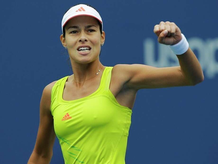 Serbia's Ana Ivanovic reacts during her match against Bulgaria's Tsvetana Pironkova in the fourth round of play at the 2012 US Open tennis tournament, Monday, Sept. 3, 2012, in New York. (AP Photo/Kathy Willens) / AP