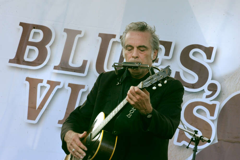 Johnny Boots takes the stage Sunday at the 5th annual Blues, Views & BBQ Festival in Westport. hour photo/Matthew Vinci