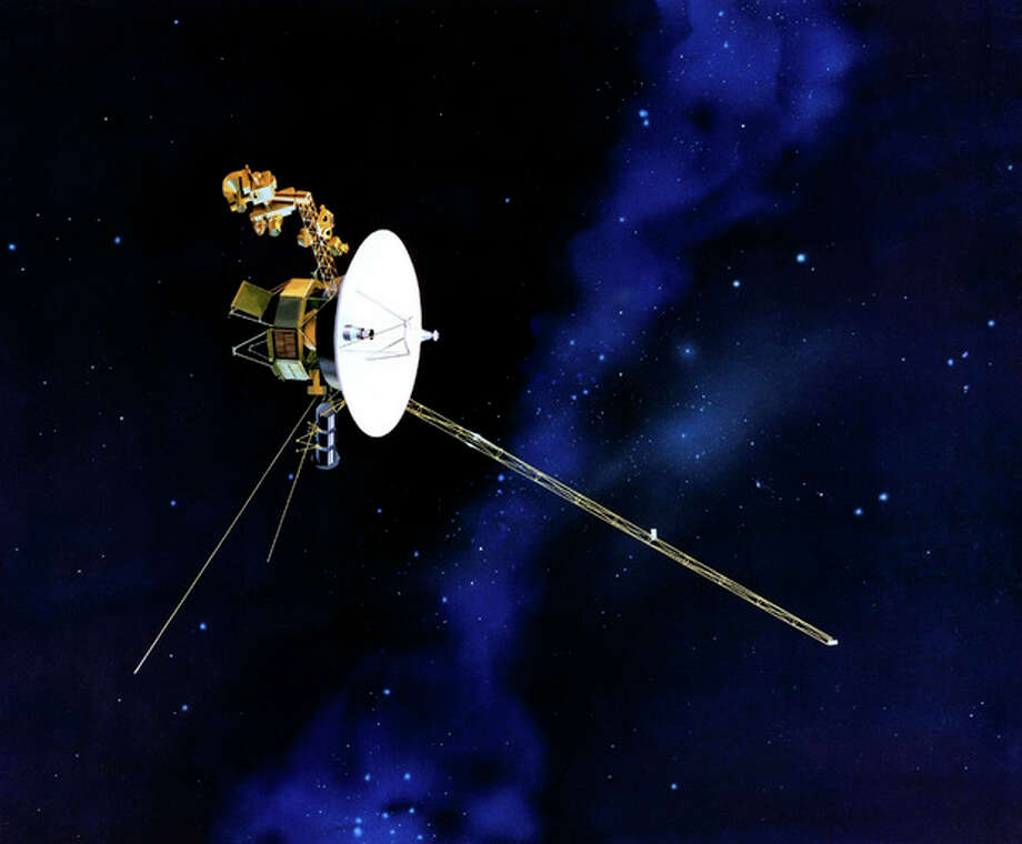 This artists rendering provided by NASA shows the Voyager spacecraft. Launched in 1977, the twin spacecraft are exploring the edge of the solar system. Thirty-five years after leaving Earth, Voyager 1 is reaching for the stars. Sooner or later, the workhorse spacecraft will bid adieu to the solar system and enter a new realm of space _ the first time a man-made object will have escaped to the other side. (AP Photo/NASA) / NASA