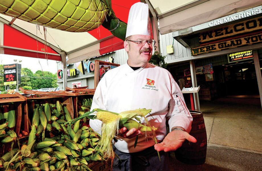 Hour photo / Erik TrautmannChef Michael Luboff, named Stew's new executive chef replacing George Llorens, was previously executive chef at Mohegan Sun. / (C)2013, The Hour Newspapers, all rights reserved
