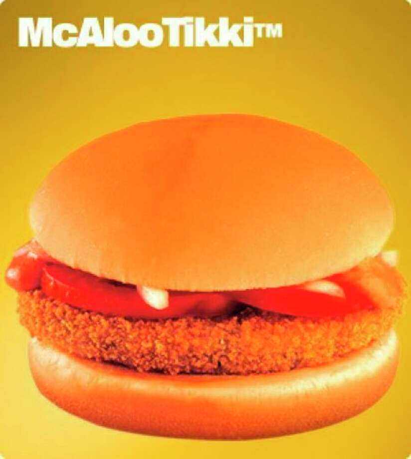 This undated image provided by McDonald's Corp. shows an item available in it's soon to open vegetarian-only restaurants in India. The company already offers menu items that cater to local tastes, such as the Maharaja Mac, which is a Big Mac except with chicken patties instead of beef. (AP Photo/McDonald's Corp.) / McDonald's