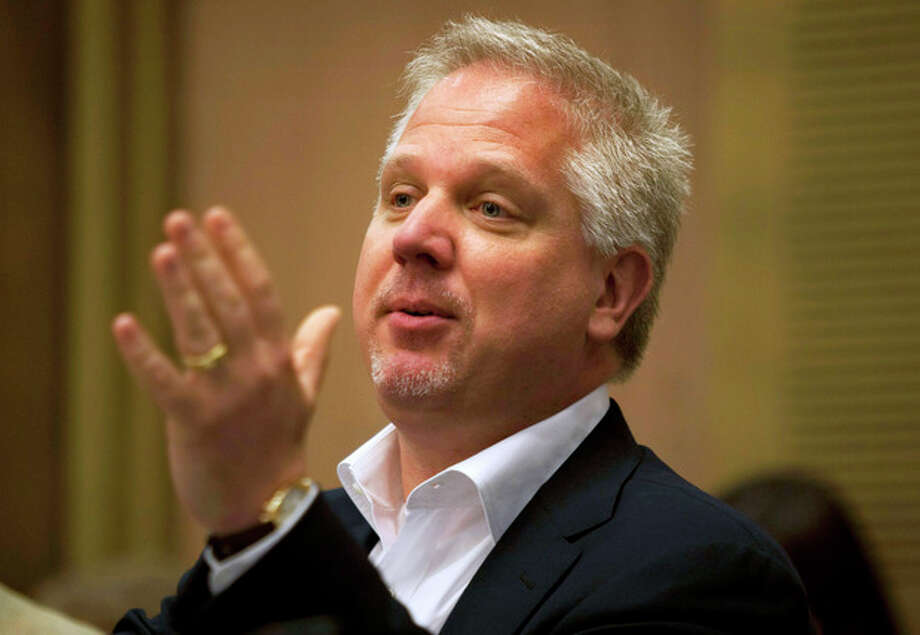 FILE - In this July 11, 2011 file photo, radio talk show host Glenn Beck speaks in the Knesset, Israel's parliament, in Jerusalem. For a second straight day, Beck on Wednesday, Sept. 5, 2012 used his show to complain that an American Airlines flight attendant treated him rudely. Beck claims it was punishment for his conservative views. (AP Photo/Sebastian Scheiner, File) / AP