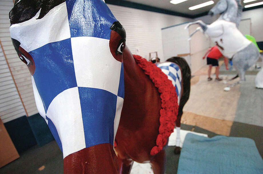 Hour Photo/ Alex von Kleydorff. A finished horse for Horsin Around. / The Hour Newspapers