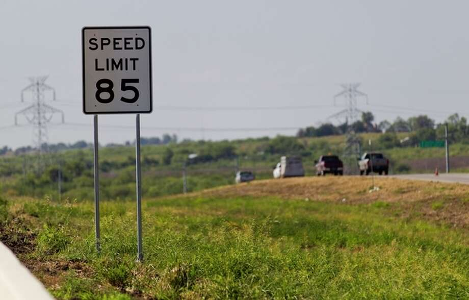 An 85 mph speed limit sign is placed on the 41-mile-long toll road in Austin, near the increasingly crowded Interstate between Austin and San Antonio, Texas on Thursday, Sept. 6, 2012. While some drivers will want to test their horsepower and radar detectors, others are asking if safety is taking a backseat to pure speed. (AP Photo/Statesman.com, Ricardo B. Brazziell) MAGS OUT; NO SALES; INTERNET AND TV MUST CREDIT PHOTOGRAPHER AND STATESMAN.COM / Statesman.com