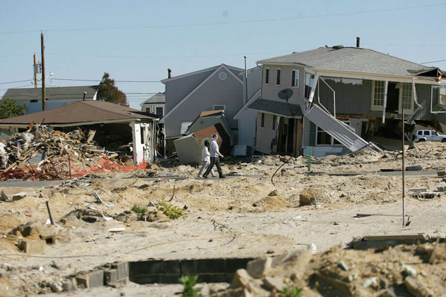 While parts of New Jersey's shore has made great progress over the past seven months, towns such as Ortley Beach still have a long way to go to recover from Sandy, Sunday, May 26, 2013. (AP Photo/The Record of Bergen County, Kevin R. Wexler) ONLINE OUT; MAGS OUT; TV OUT; INTERNET OUT; NO ARCHIVING; MANDATORY CREDIT / The Record of Bergen County