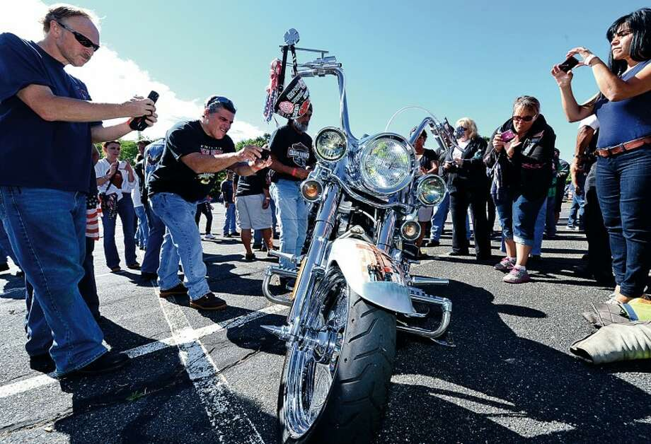 The United Ride tribute started out from Norden ParkSunday for the 12th annual motorcycle ride to benefit first responders and families affected by 9/11. Hour photo / Erik Trautmann