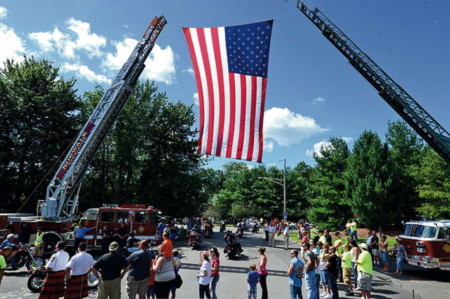 The United Ride tribute started out from Norden ParkSunday for the 12th annual motorcycle ride to benefit first responders and families affected by 9/11. Hour photo / Erik Trautmann / (C)2012, The Hour Newspapers, all rights reserved