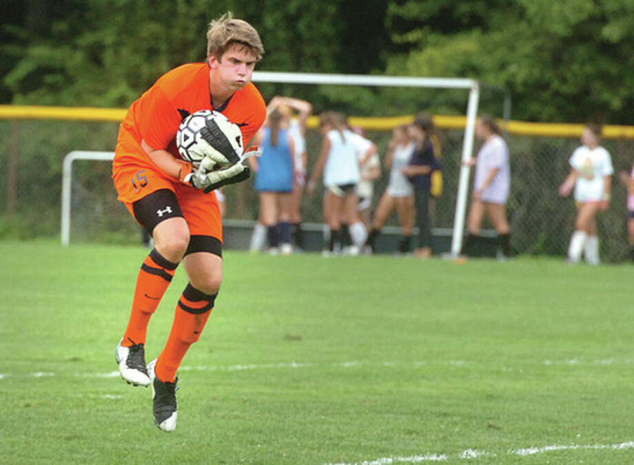 Hour Photo/ Alex von Kleydorff. Staples James Hickok vs Fairfield Prep / 2012 The Hour Newspapers