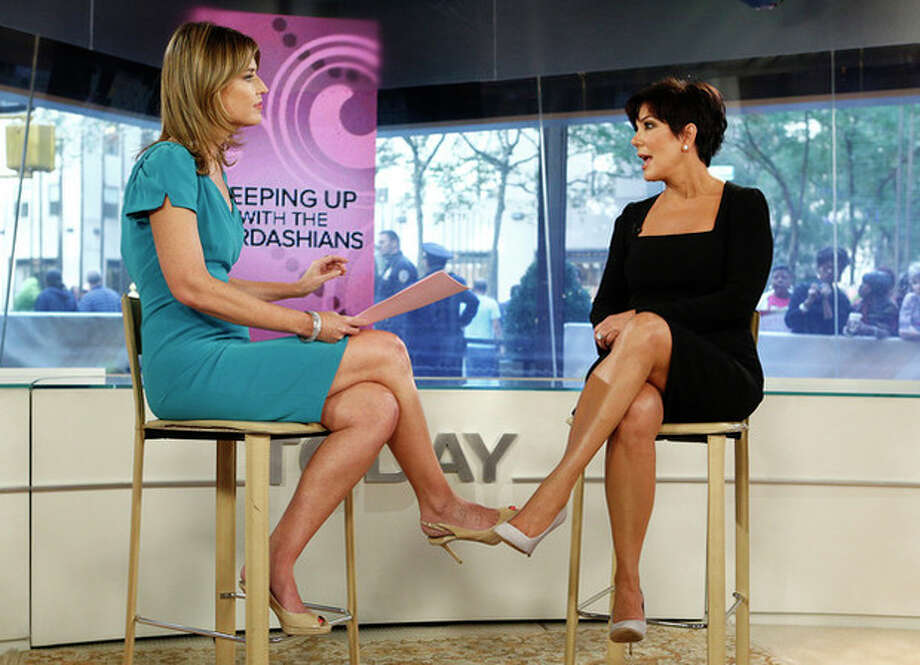 "This image released by NBC shows host Savannah Guthrie, left, listening to TV personality Kris Jenner from ""Keeping Up with the Kardashians,"" during an interview on the ""Today"" show in New York on Tuesday, Sept. 11, 2012. (AP Photo/NBC, Peter Kramer) / NBC"
