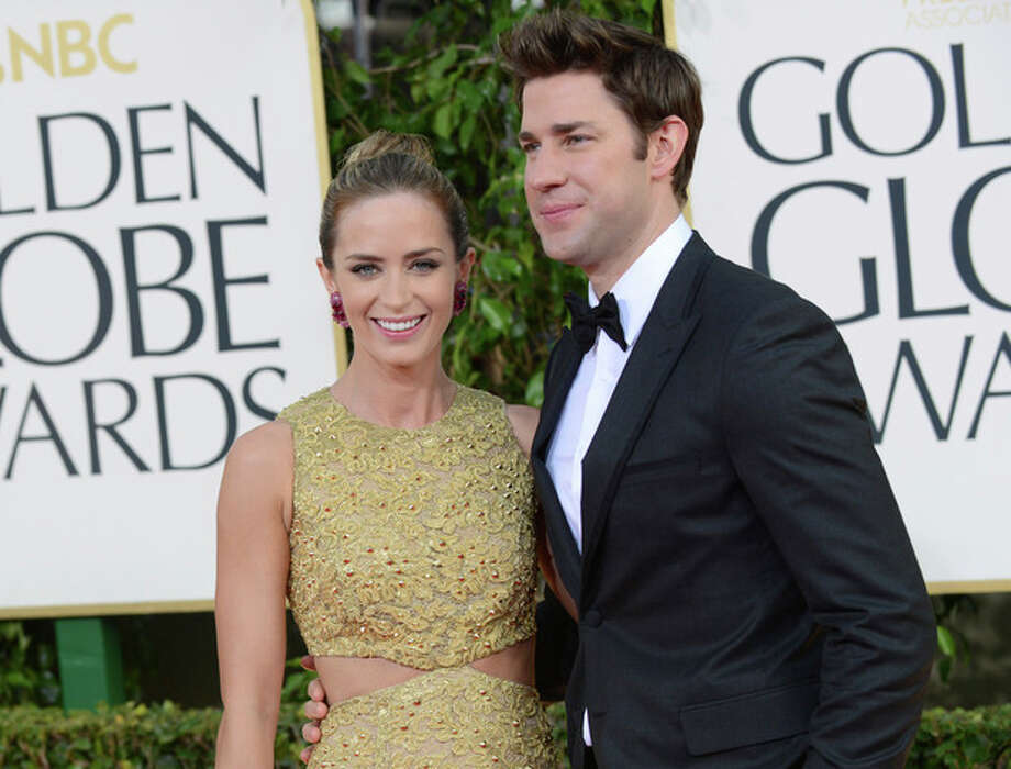 Photo by Jordan Strauss/Invision/AP, fileThis Jan. 13, file photo shows married actors Emily Blunt, left, and John Krasinski at the 70th Annual Golden Globe Awards in Beverly Hills, Calif. Krasinski is hosting Massachusetts General Hospital Cancer Center's annual fundraiser known as the one hundred gala set for Wednesday evening. / Invision