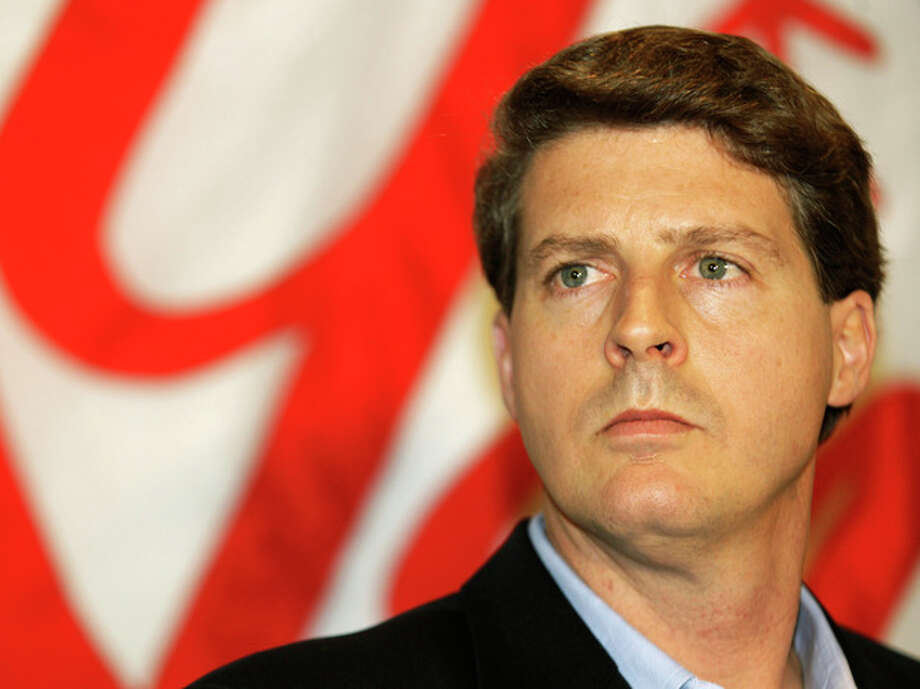 File-This Dec. 18, 2008 file photo shows New York Yankees co-chairman Hal Steinbrenner during a news conference. Steinbrenner says he has been disappointed by Alex Rodriguez's behavior at times during the star third baseman's career in pinstripes. Steinbrenner made the comments after attending a news conference at Yankee Stadium on Monday June 3, 2013 to announce that the Big Ten and Pinstripe Bowl have agreed to an eight-year deal. (AP Photo/Kathy Willens, File) / AP