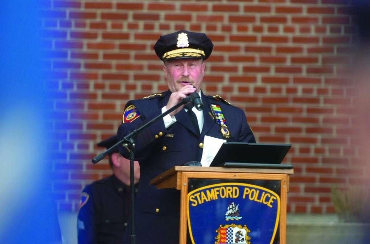 File Photo/ Alex von Kleydorff. Stamford Police Chief Robert Nivakoff.