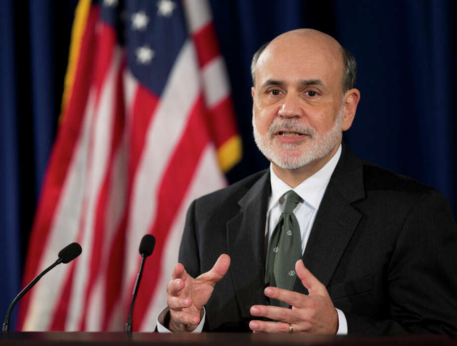 Federal Reserve Chairman Ben Bernanke speaks during a news conference in Washington, Thursday, Sept. 13, 2012, following the Federal Open Market Committee meeting to present the FOMC's current economic projections and to provide additional context for the FOMC's policy decision. (AP Photo/Manuel Balce Ceneta) / AP