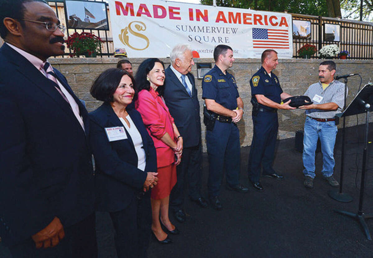Local dignitaries attend the