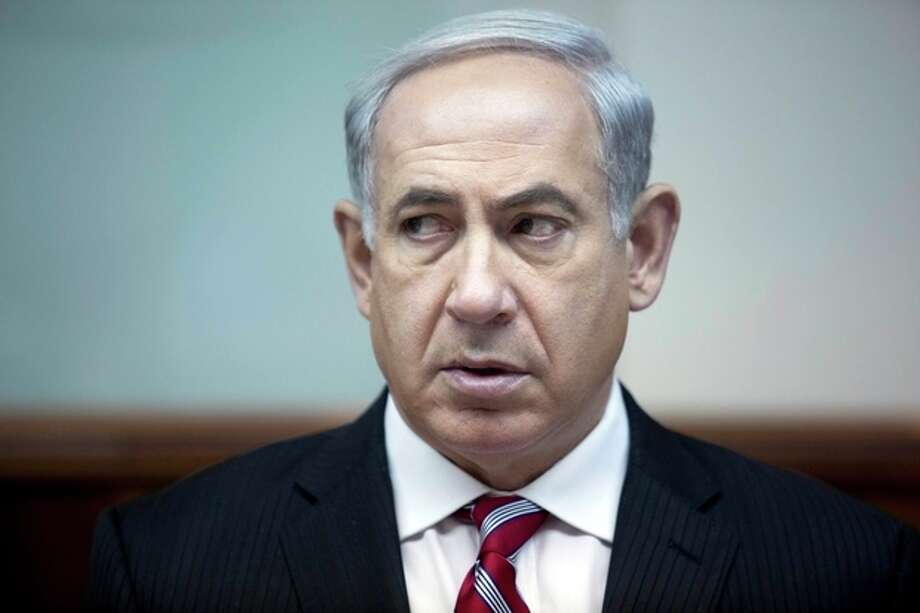Israeli Prime Minister Benjamin Netanyahu attends the weekly cabinet meeting in his office in Jerusalem, Israel, June 9, 2013. A senior member of Prime Minister Benjamin Netanyahu's Likud Party said in an interview broadcast Sunday that the Israeli government will not accept a Palestinian state with the borders favored by the Palestinians and the international community, a new hurdle to U.S. Secretary of State John Kerry's effort to restart peace talks in his latest visit to the region. Netanyahu's office has tried to distance itself from the comments. (AP Photo/Abir Sultan, Pool) / POOL EPA