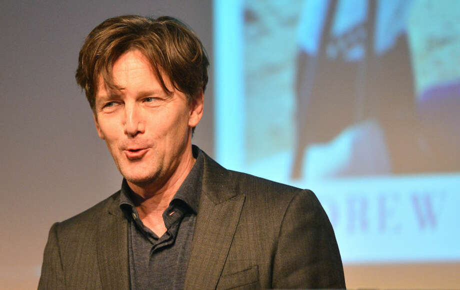 """Actor/writer Andrew Mccarthy talks bout his career as a travel writer and about his new bestseller """"The Longest Way Home"""" at the Wilton Library on Thursday night."""
