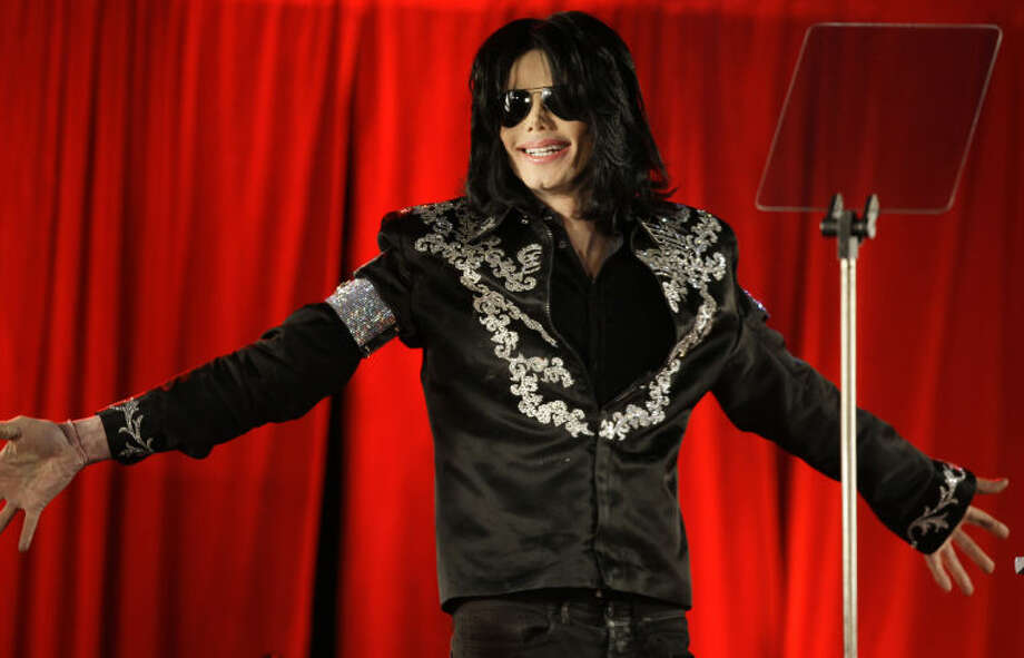 FILE - This March 5, 2009 file photo shows singer Michael Jackson announcing his concerts at the London O2 Arena. Michael JacksonÕs mother sat in court Thursday, May 2, 2013, as a police detective testified that she told him the family had tried drug interventions for the singer, believing he was addicted to painkillers. But Detective Orlando Martinez said Katherine Jackson told him her son refused any help, saying he didnÕt have a drug problem. (AP Photo/Joel Ryan, file)
