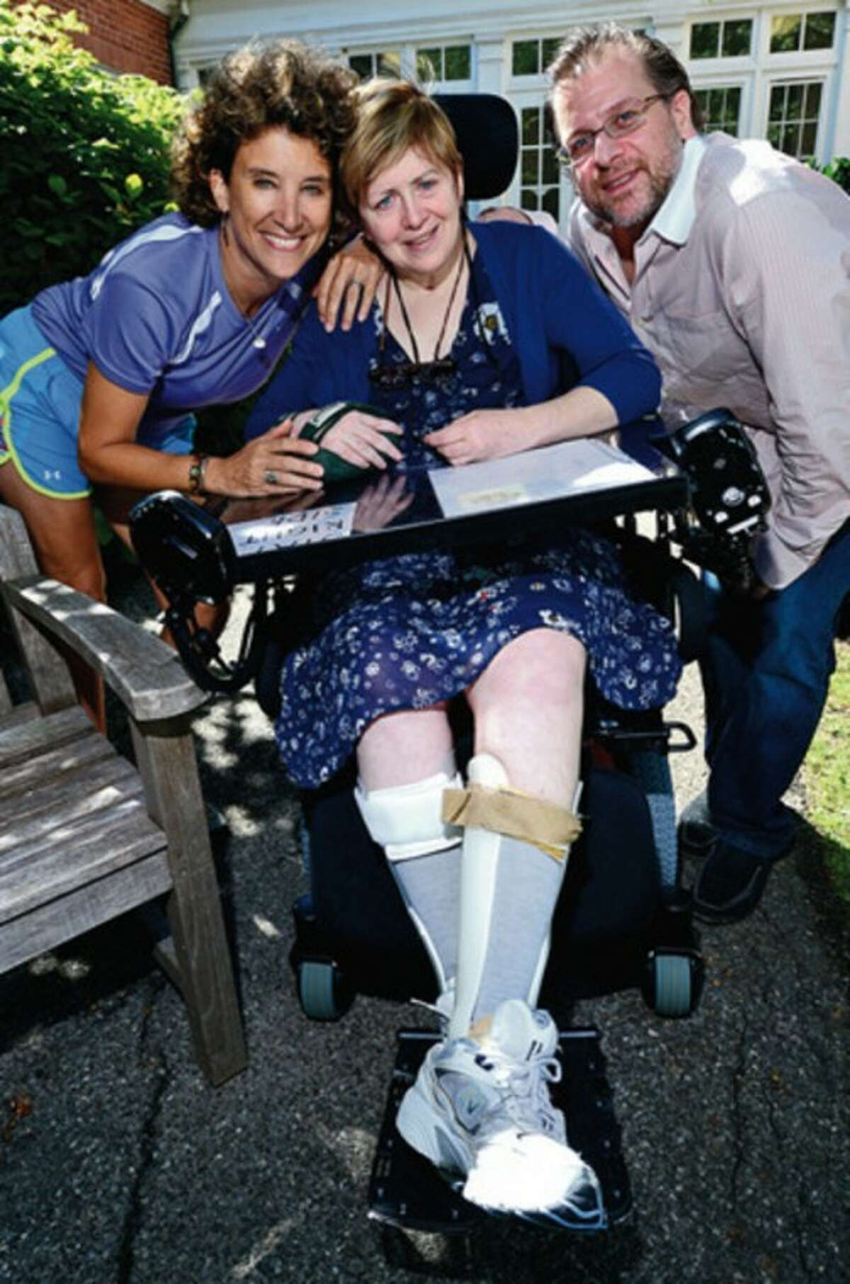 Hour photo / Erik Trautmann Stacy Mehok, who was a cheerleader in the '70s for Westhill, was hurt very badly in a car crash and has been in a wheelchair since.