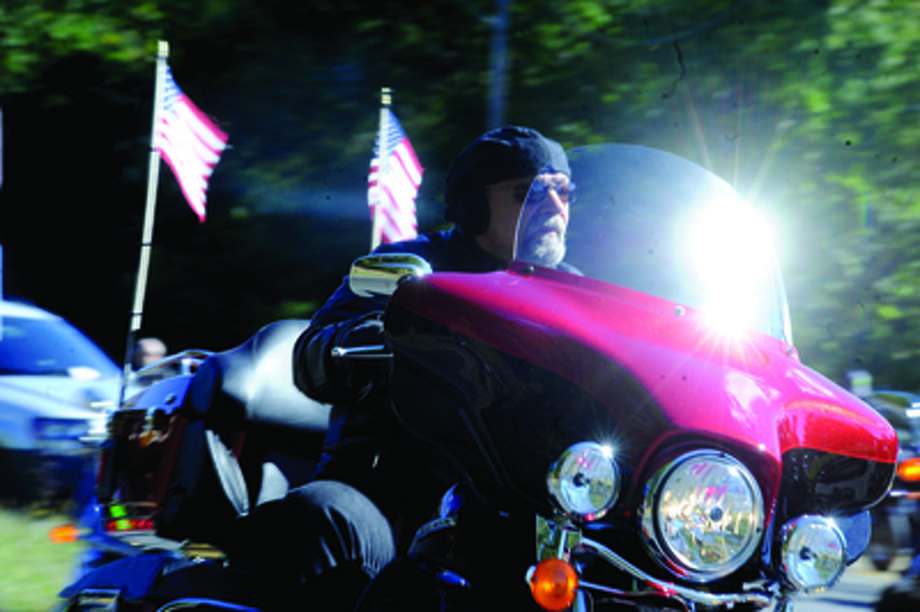 The Thunder on the Sound bike ride in Stamford Sunday to raise money for the Brian Bill Foundation. Brian was a Navy Seal killed in Afghanistan. Hour photo/Matthew Vinci