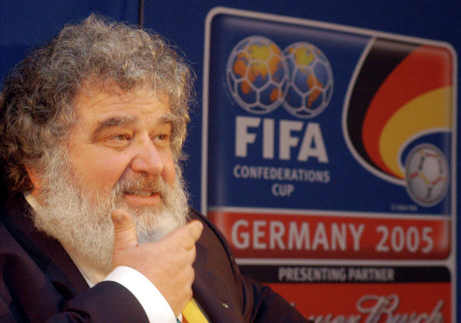 "FILE - In this Feb. 14, 2005 file photo, Confederation of North, Central American and Caribbean Association Football (CONCACAF) General Secretary Chuck Blazer attends a news conference in Frankfurt, Germany. FIFA has provisionally banned American executive committee member Blazer from all football-related activities for 90 days because of alleged ethics violations. FIFA said in a statement Monday, May 6, 2013, that it decided to provisionally ban Blazer ""based on the fact that various breaches of the FIFA Code of Ethics appear to have been committed by"" the American. (AP Photo/Bernd Kammerer, File) / AP"