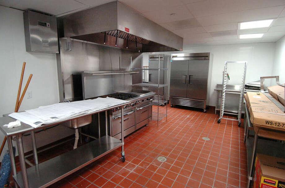 Hour Photo/Alex von Kleydorff Kitchen area at Wilton Commons