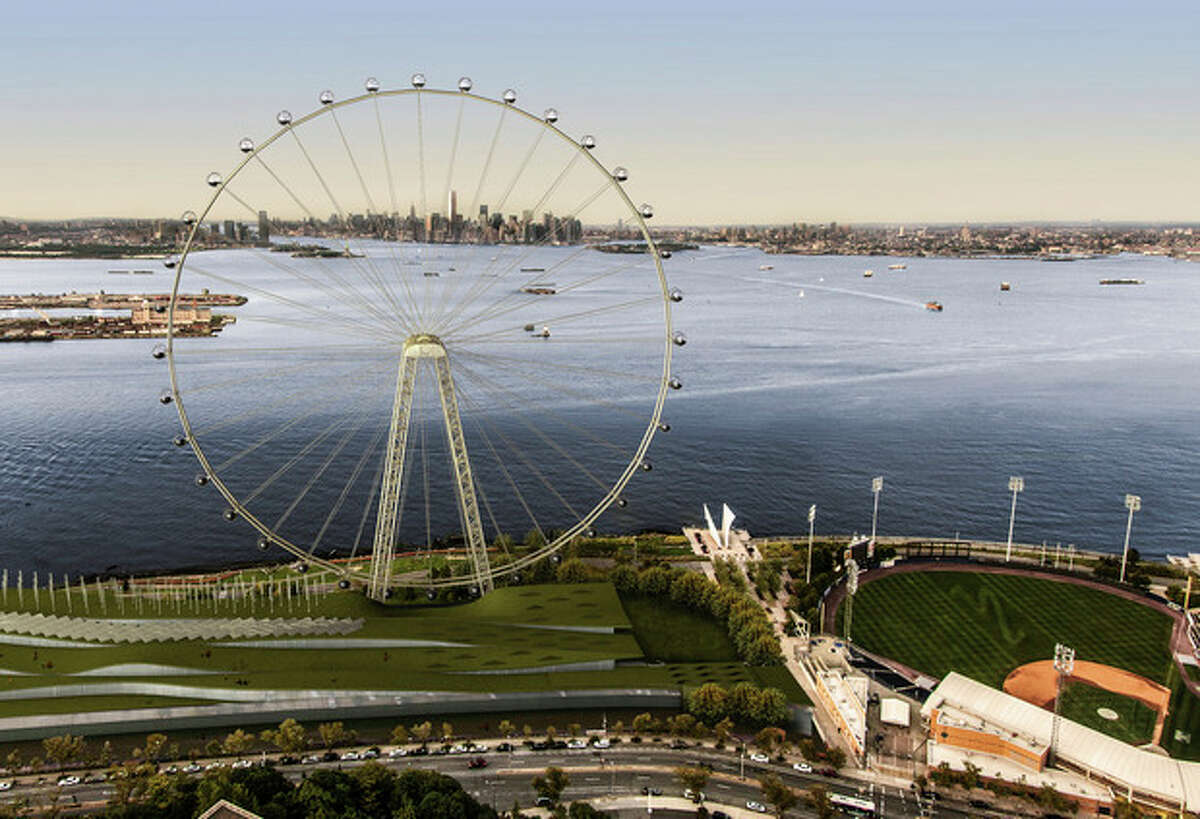 AP Photo/Office of the Mayor of New York In this image released by the New York Mayor's Office, Thursday, Sept. 27 is an artist's rendering of a proposed 625-foot Ferris wheel, billed as the world's largest, planned as part of a retail and hotel complex along the Staten Island waterfront in New York.