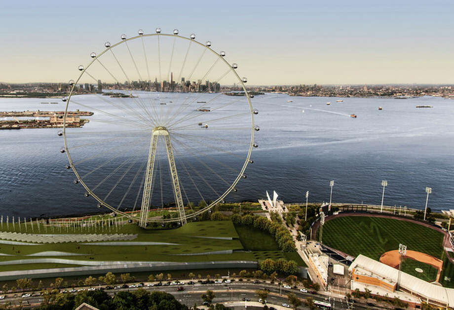 AP Photo/Office of the Mayor of New YorkIn this image released by the New York Mayor's Office, Thursday, Sept. 27 is an artist's rendering of a proposed 625-foot Ferris wheel, billed as the world's largest, planned as part of a retail and hotel complex along the Staten Island waterfront in New York. / New York Mayor's Office