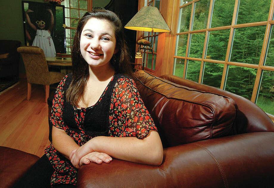 Hour photo / Alex von KleydorffSixteen-year-old Staples High School junior Dustyn Levenson. / 2012 The Hour Newspapers