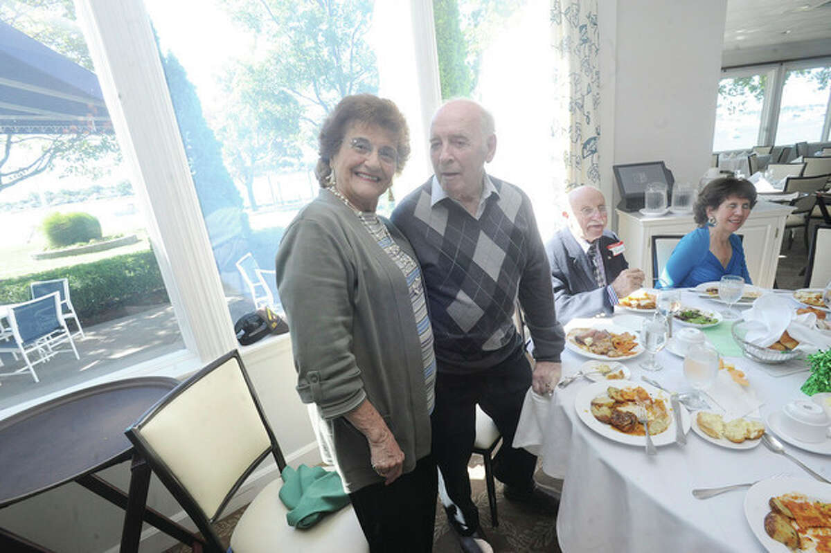Jo Marion Ryan and Bob Ryan at the NHS class of 1947 reunion at the Shore & Country Club on Sunday. hour photo/Matthew Vinci