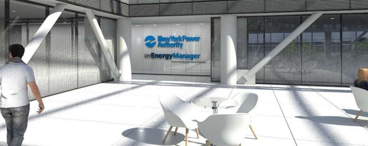 A rendering of the exterior of the energy monitoring lab planned by the New York Power Authority at SUNY Polytechnic Institute.