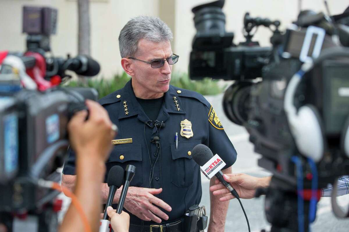 """San Antonio Police Chief William McManus says the Secret Service will have the lead security role during Donald Trump's fundraising event Friday. McManus said, """"I have faith in our community to protest, and protest peacefully."""""""