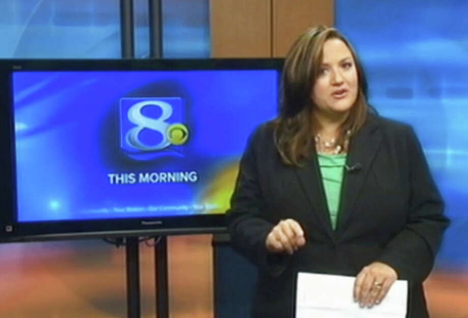 This frame grab provided by WKBT-TV in La Crosse, Wis., shows television anchorwoman Jennifer Livingston Tuesday, Oct. 2, 2012, during her broadcast responding to a viewer who wrote her an email criticizing her weight. Livingston says she thought nothing of the email. But she's angry that some children may not know to do the same when they're criticized, or worse, by bullies. (AP Photo/Courtesy WKBT-TV) / WKBT-TV