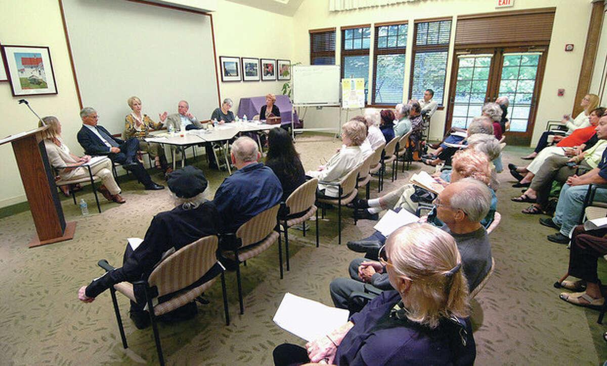 Hour Photo Alex von Kleydorff; Transportation forum for seniors at the Westport Senior Center.