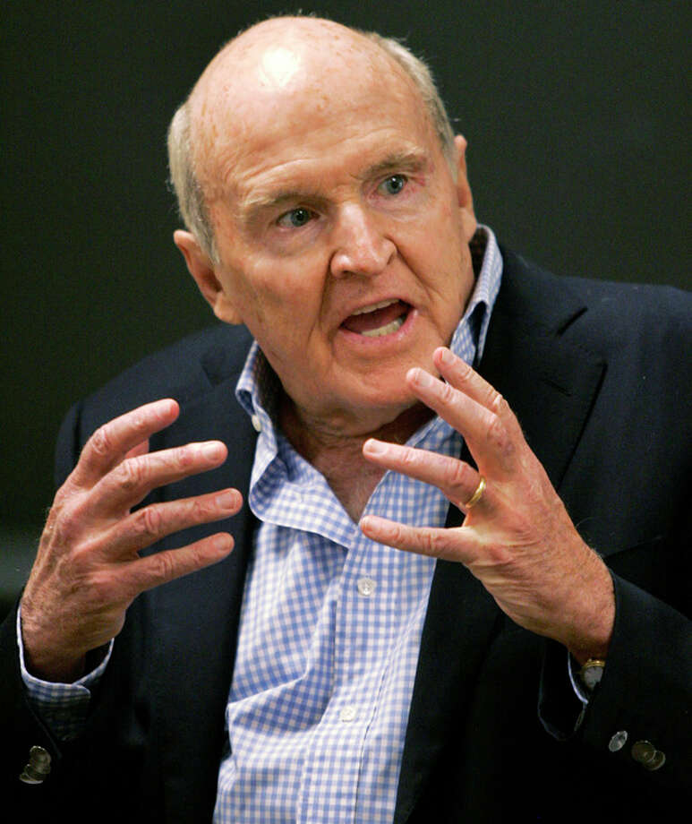 FILE - In this Sept. 27, 2006 file photo, former General Electric CEO Jack Welch addresses students at the Massachusetts Institute of Technology, in Cambridge, Mass. Conspiracy theorists came out in force Friday, Oct. 5, 2012, after the government reported a sudden drop in the U.S. unemployment rate one month before Election Day. Welch tweeted his skepticism five minutes after the Labor Department announced that the unemployment rate had fallen to 7.8 percent in September from 8.1 percent the month before. (AP Photo/Elise Amendola, File) / AP