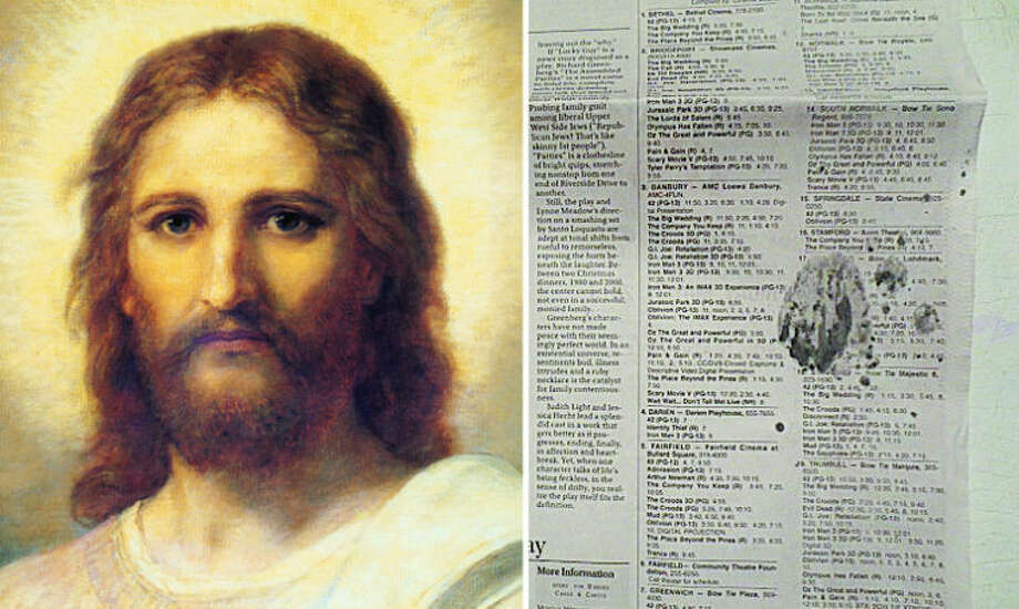 Norwalk family sees image of Jesus in edition of The Hour.