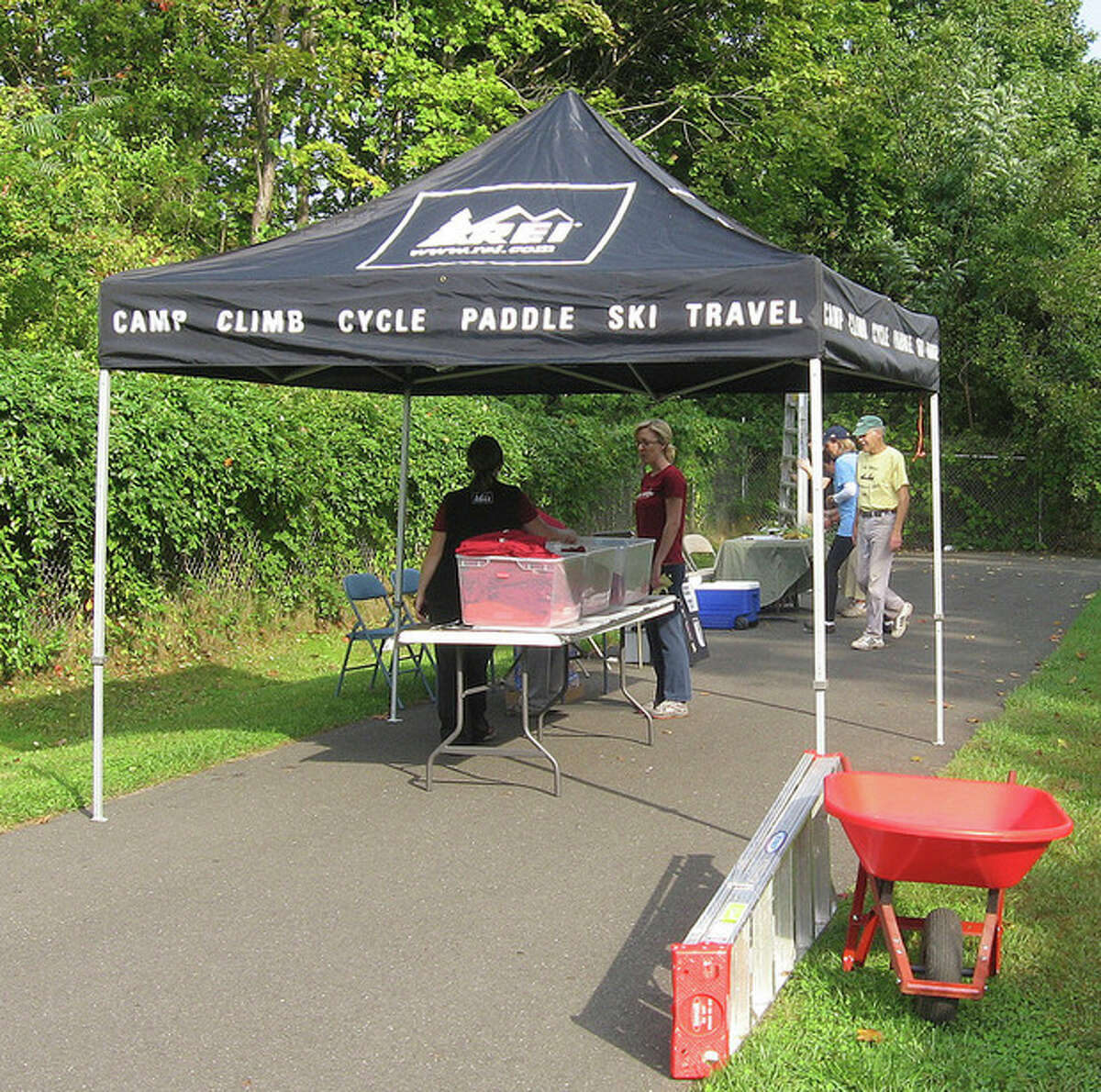 Photo by David Park REI tent at NRVT clean up day on Saturday.