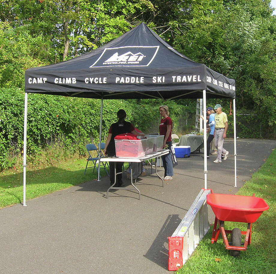 Photo by David ParkREI tent at NRVT clean up day on Saturday.