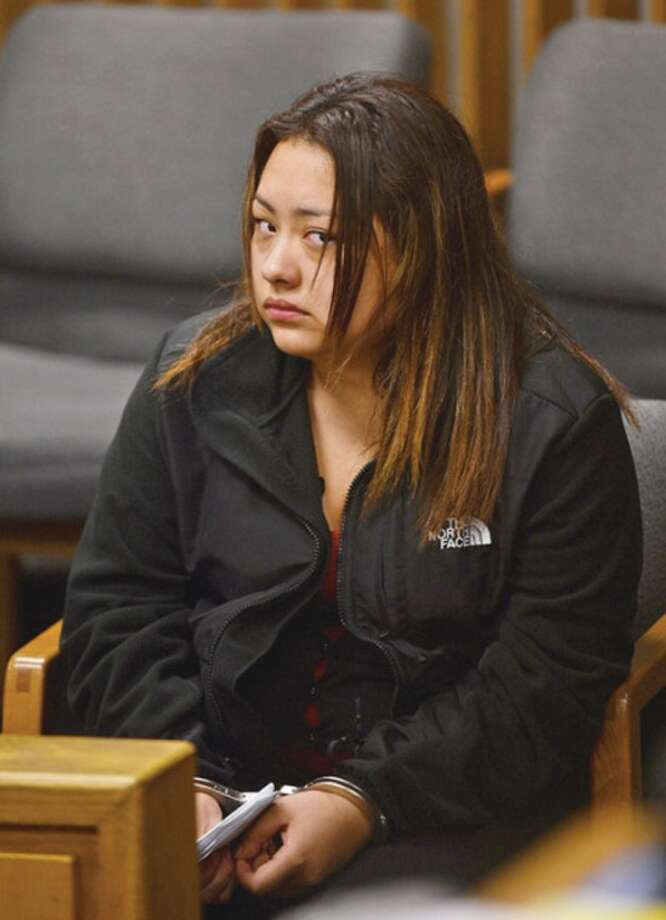 Norwalk resident Cindy Rivera, 20, who is charged with causing a car crash that killed an elderly driver in in Weston May 6, was ordered held on $10,000 bond during her arraignment Thursday at Norwalk Superior Court.Hour photoErik Trautmann
