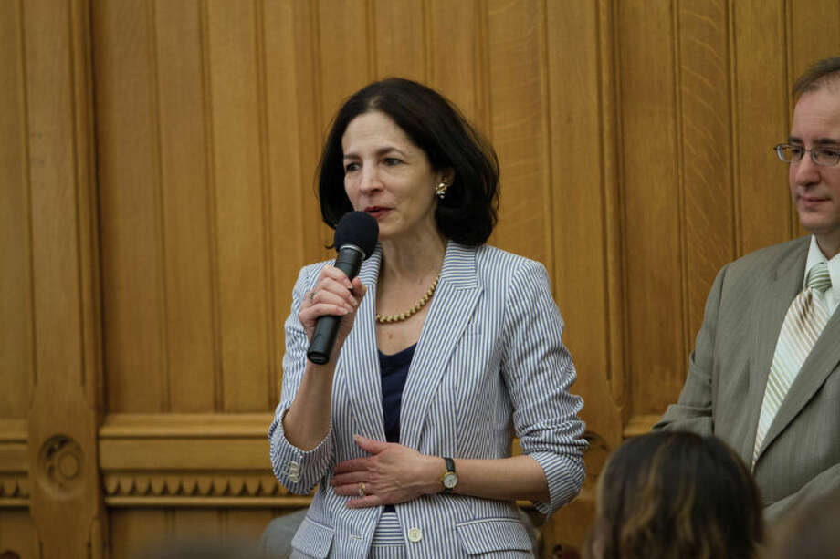 State Rep. Gail Lavielle, R-143, stressed the need for consistent tax policy to promote economic growth atthe Connecticut Business and Industry Association (CBIA) Manufacturing and Technology Day.