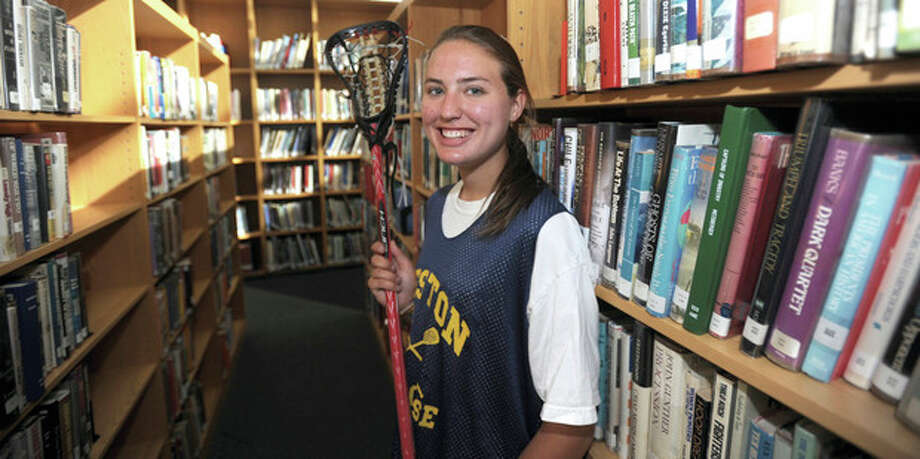 Hour photo/John NashWeston girls lacrosse standout Frances Holmes is much more than a student of the game. Now the leading point-scorer in program history, the senior is also an honors student who may be more adept in the classroom than on the field.